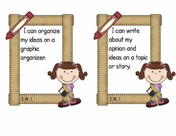 Third Grade Common Core ELA - Writing Standards Mini-Posters