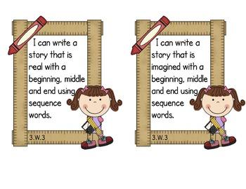Third Grade Common Core ELA - Writing Standards Mini-Posters