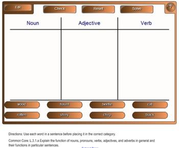 Third Grade Common Core English Language Arts Smart Board Games
