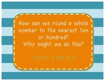 Third Grade Common Core Essential Questions - Math