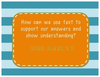 Third Grade Common Core Essential Questions - Reading
