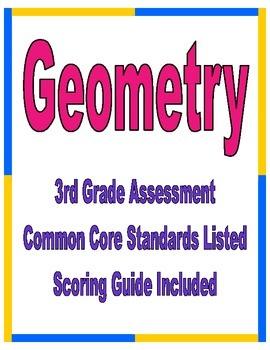 Third Grade Common Core Geometry Assessment