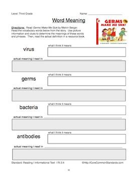Third Grade Common Core Homework
