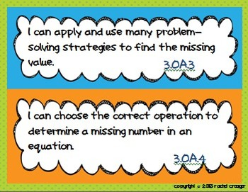 Third Grade Common Core I Can Posters, Data Notebooks, and