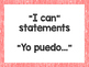 "Third Grade Common Core ""I Can Statements"" in Spanish~Cray"