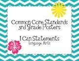 Third Grade Common Core Language Arts Posters-Chevron Pattern