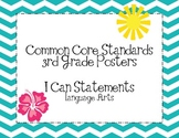 Third Grade Common Core Language Arts Posters-Chevron Pattern