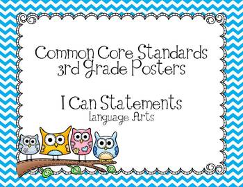 Third Grade Common Core Language Arts Posters-Owls