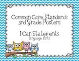 Third Grade Common Core Language Arts Posters-Owls
