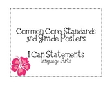 Third Grade Common Core Language Arts Posters-Plain