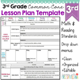 Third Grade Common Core Lesson Plan Template
