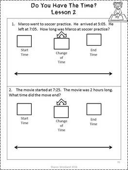 Third Grade Common Core Math 3.MD 1 Elapsed Time