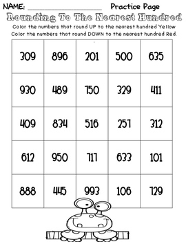 Third Grade Common Core Math- 3.NBT.1 Rounding to the Nearest 10 or 100