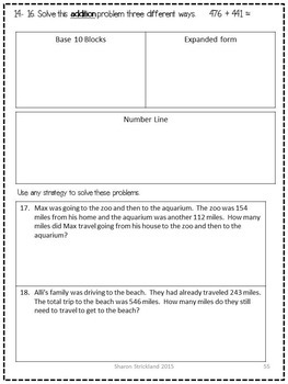 Third Grade Common Core Math 3.NBT.2- Addition and Subtraction Strategies