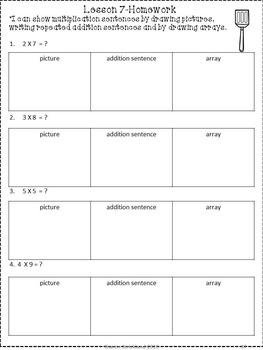 third grade common core math 3 oa 1 multiplication strategies tpt. Black Bedroom Furniture Sets. Home Design Ideas