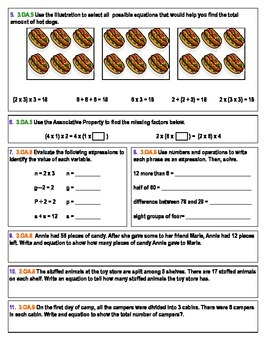Third Grade Common Core Math 7-Assessment Bundle (second half of the year!)
