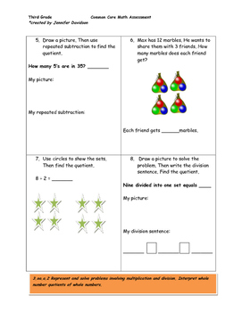 Third Grade Common Core Math Assessment (all standards) 96 questions