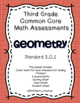 Third Grade Common Core Math Assessment ~ 3.G.1