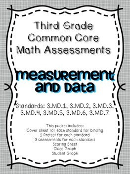 Third Grade Common Core Math Assessment ~ 3.MD.1-3.MD.8