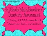 Third Grade Common Core Math Assessment Baseline/Quarterly Assessment