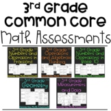 Third Grade Math Assessments for Common Core Bundle