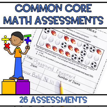Third Grade Common Core Math Assessments ALL Standards