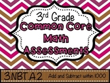 Third Grade Common Core Math Assessments - Add and Subtrac