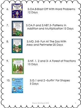 Third Grade Common Core Math Bundle- A Year Long Math Curriculum!