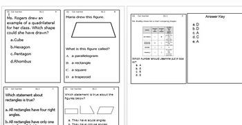 Third Grade Common Core Math Center Cards
