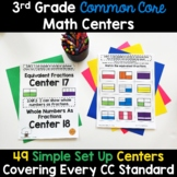 3rd Grade Math Centers -Covers ALL 3rd Grade Math Standards