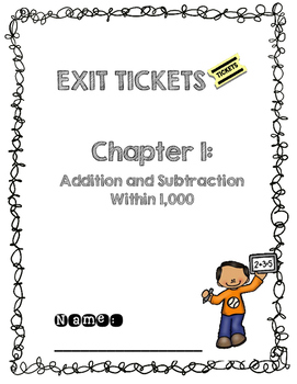 Third Grade Common Core Math Exit Tickets: Go Math! Chapter 1