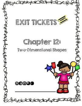 Third Grade Common Core Math Exit Tickets: Go Math! Chapter 12