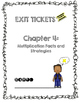 Third Grade Common Core Math Exit Tickets: Go Math! Chapter 4
