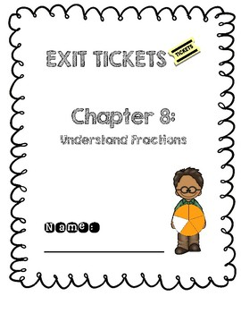 Third Grade Common Core Math Exit Tickets: Go Math! Chapter 8