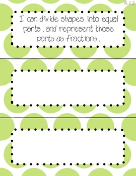 "Third Grade Common Core Math - ""I Can"" Statement Cards"