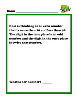 Third Grade Common Core Math Problems