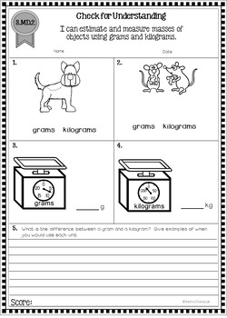 Third Grade Common Core Math - Quick Assessments for MD Standards