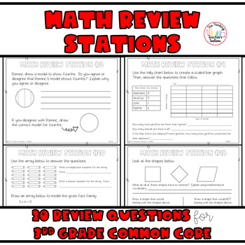 Third Grade Common Core Math Review ALL Standards
