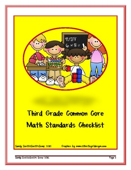 Third Grade Common Core Math Standards Checklist