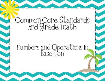 Third Grade Common Core Math Standards-Chevron Print