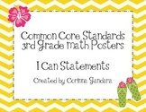 Third Grade Common Core Math Standards-Chevron Print
