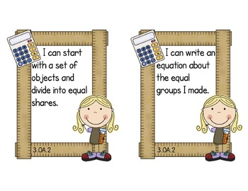 Third Grade Common Core Math Standards Mini-Posters