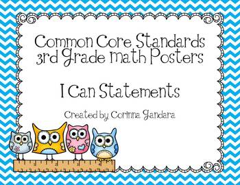 Third Grade Common Core Math Standards-Owl