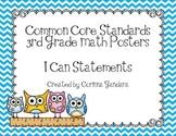 Third Grade Common Core Math Standards-Owl