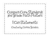 Third Grade Common Core Math Standards Posters-Plain