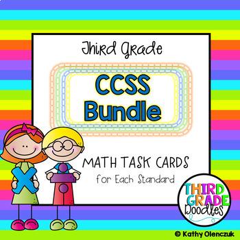 Third Grade Common Core Math Task Cards - Massive Bundle!