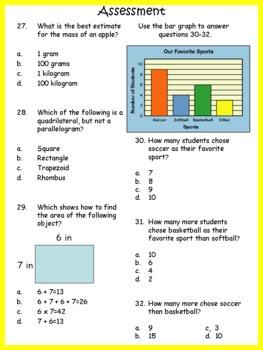 Third Grade Common Core Math Test Prep/Study Guide