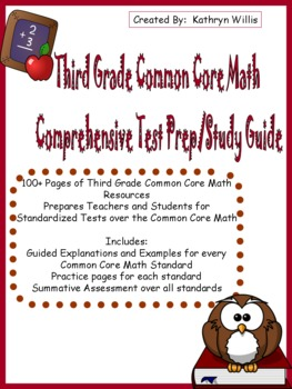 Third Grade Common Core Math Test Prep/Study Guide
