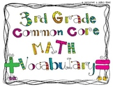 Third Grade Common Core Math Vocabulary Words