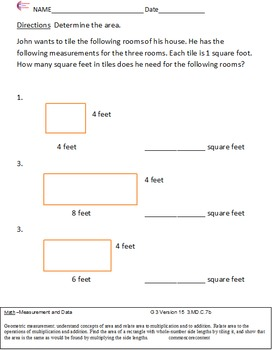 Third Grade Common Core Math Worksheets Measurement and Data 3.MD